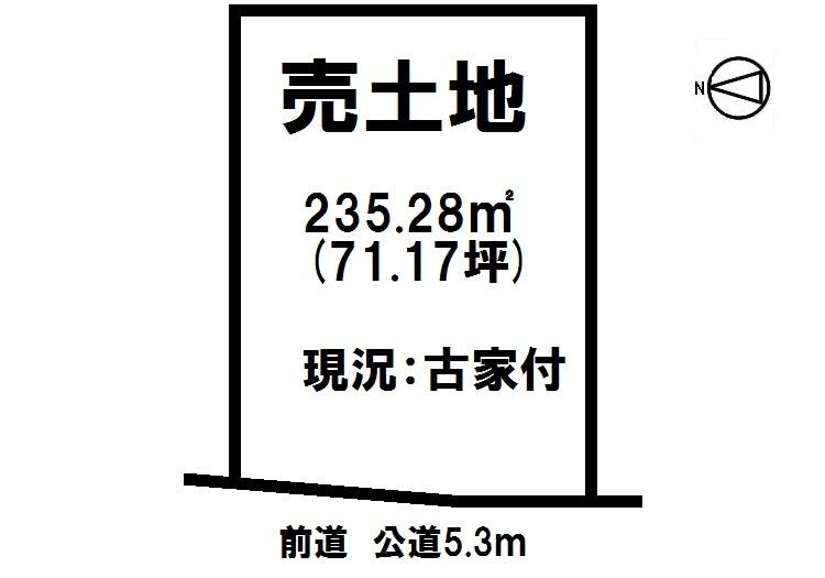 【区画図】 建築条件なし。お好きなメーカー様で建築可能です。 間口約10.14m、前面道路との高低差はございません。