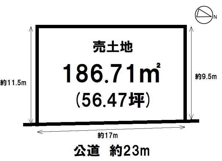【区画図】 原松町 土地 2区画