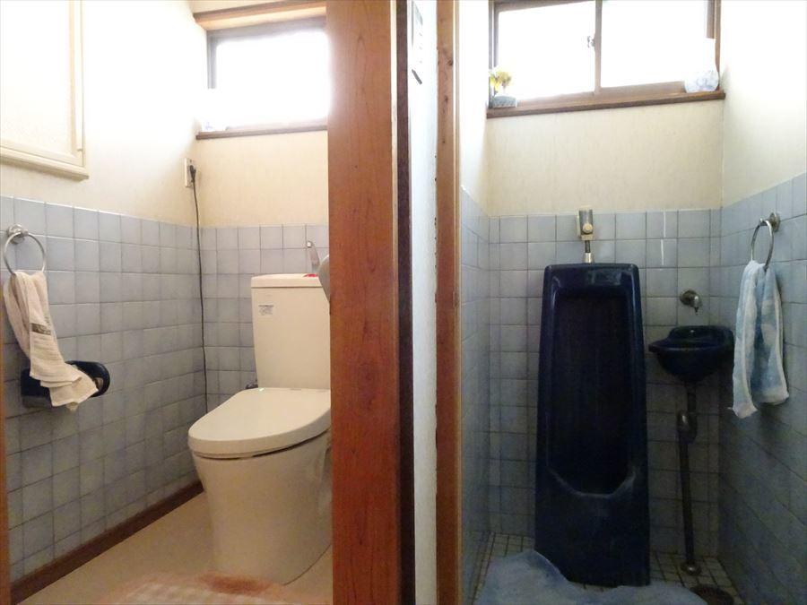 お手洗いは、男性用もあります。 (2018年3月12日撮影)