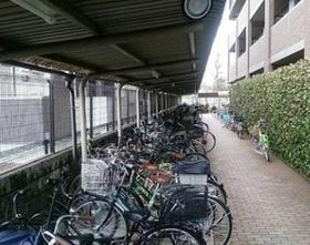 こちらが駐輪場です  きちんと整頓されています  また屋根付きのため大切な自転車を  雨や日差しから守ってくれます