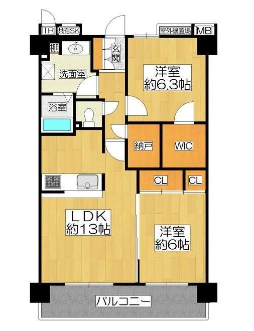 【間取り】 平成30年2月改装済なので 新築気分が味わえますよ  現在空室なので いつでも内覧可能です  お気軽にお問い合わせください