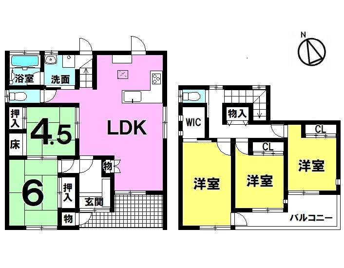 【間取り】 ・5LDK+WIC ・駐車3台可能