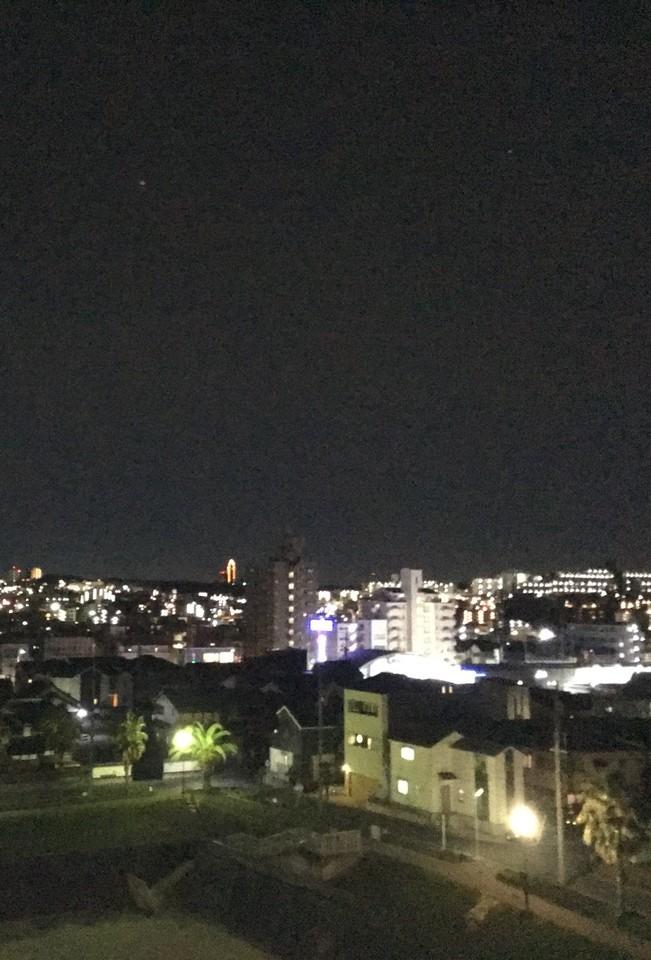 南側バルコニー 30.3.23 20時頃撮影 天候:晴れ