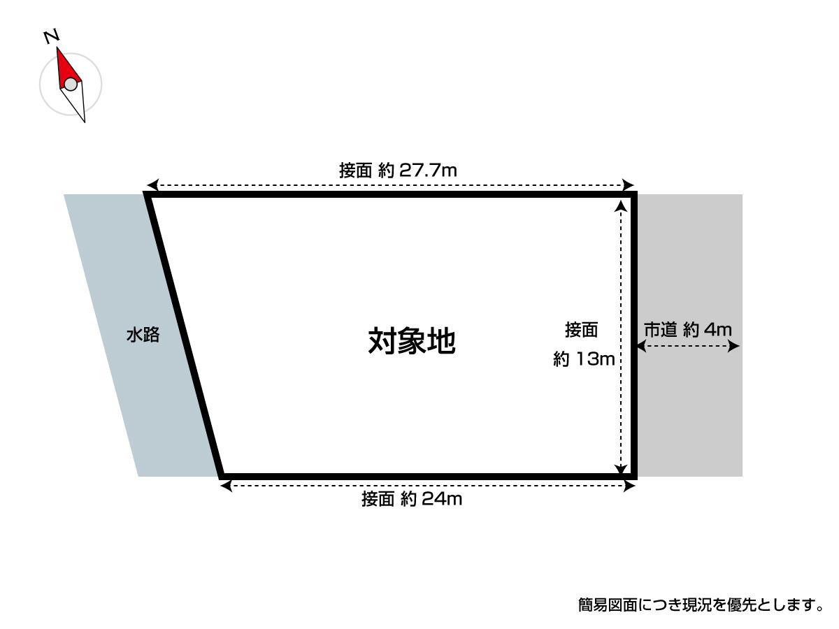 【区画図】 ◆小倉南区長尾 売地 約100坪の平坦地♪ ◆建築条件無し♪ ◆スーパー7分で買物便利♪