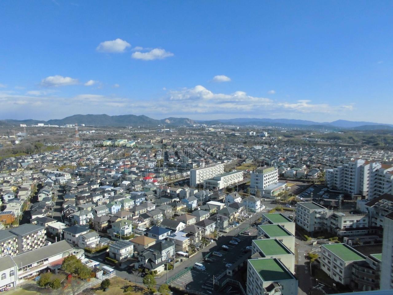 バルコニーからの眺望は高層階ならでは!
