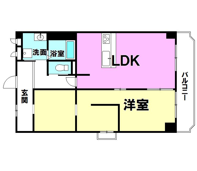 【間取り】 エクセレンス三萩野508号室