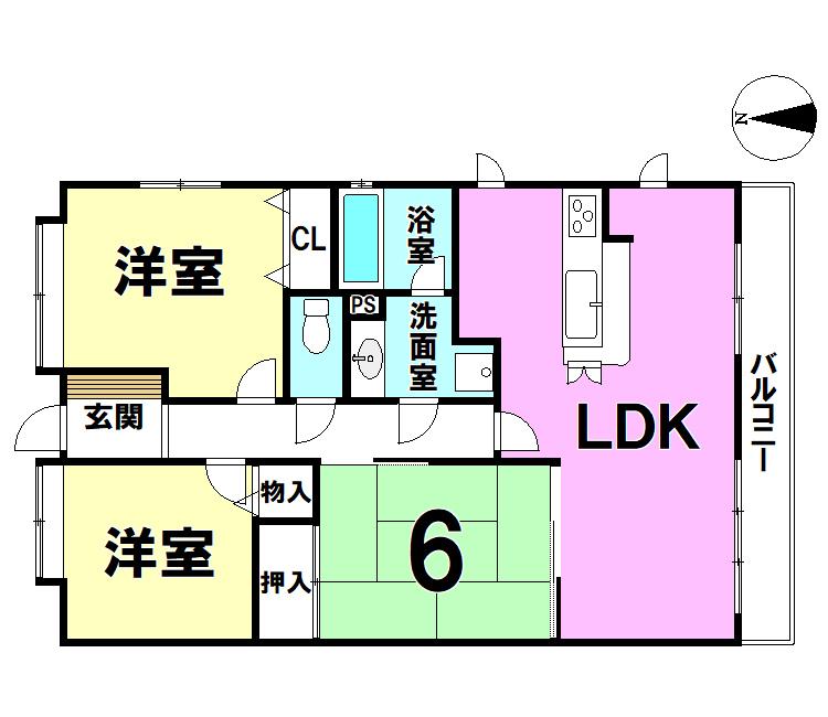 【間取り】 藤和ハイタウン807号室