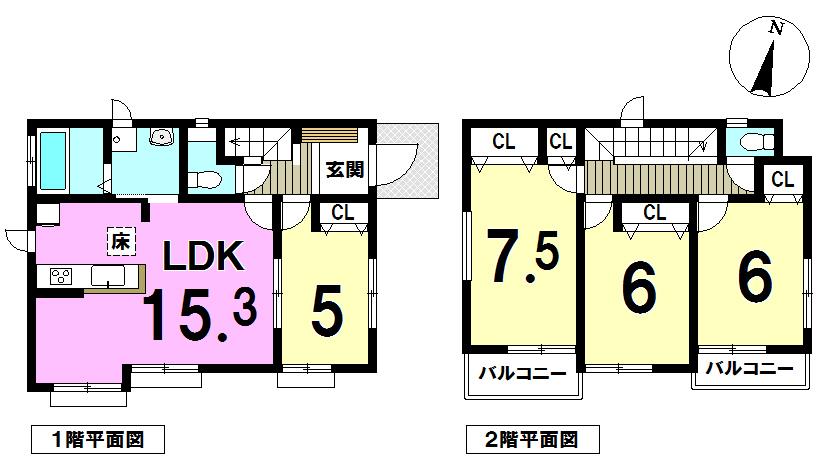 【間取り】 ~全11棟素敵なゆったりマイホーム~LDK15帖以上~車2台駐車可~各居室収納つき~ご家族にこにこ笑顔のお家~