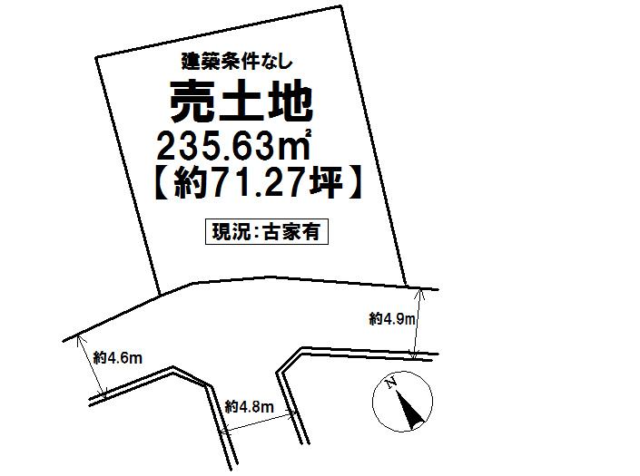 【区画図】 土地広々約71.27坪!