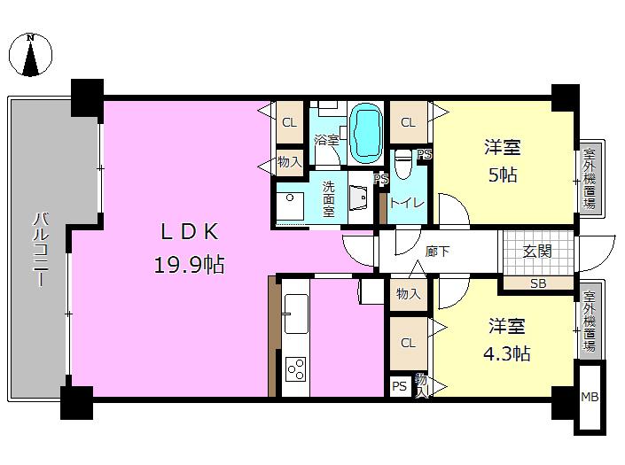 【間取り】 LDK広々19.9帖! ぜひ室内ご覧ください♪ 大切なペットと暮らせるお家です♪