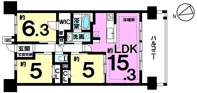 【間取り】 駅近物件!!名鉄河和線「知多半田駅」歩1分(約190m)で、朝もゆとりの時間が持てます♪