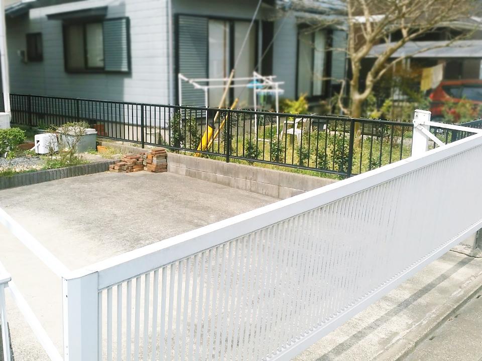 ◆駐車スペースは、並列2台駐車できます♪◆北九州市小倉南区横代東町4LDK中古一戸建て平坦地♪