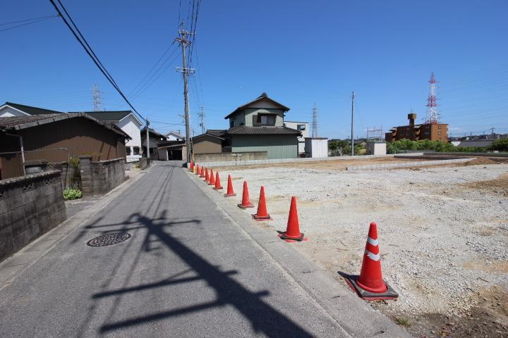 工事工程 更地 4月11日撮影しました。