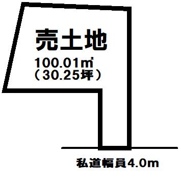【区画図】 葛飾区細田5丁目の売土地物件です。