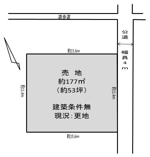 【区画図】 久喜駅徒歩8分の売地です。