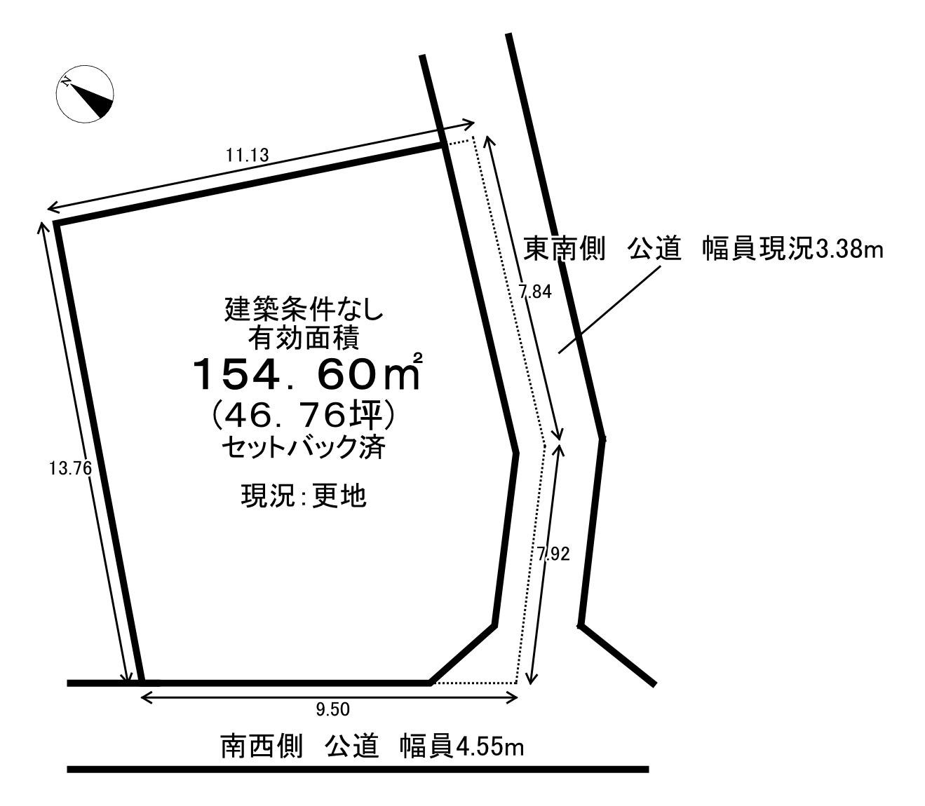 【区画図】 深大寺元町3丁目の売土地物件です。