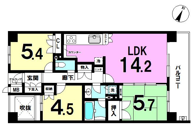 【間取り】 西小岩3丁目の西小岩パークホームズ