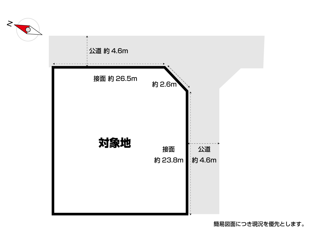 【区画図】 ◆北九州市小倉南区大字母原紫水団地 売土地 土地面積広々214坪♪ 東南角地♪ 整形地♪ 平坦地♪