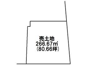 津島市城山町 建築条件なし土地