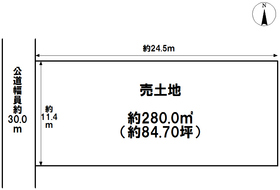 ○●名古屋市中川区中花町 建築条件無し土地