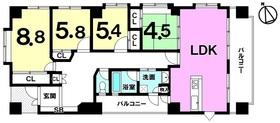【間取り】 専有面積約118平米!!4LDK!現在賃貸中!家賃収入17万円/月有り、年間約204万円!!