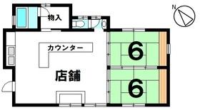 【間取り】 緑あふれる開放的な角地 店舗付の住宅です