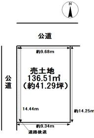 津島市中之町 建築条件なし土地