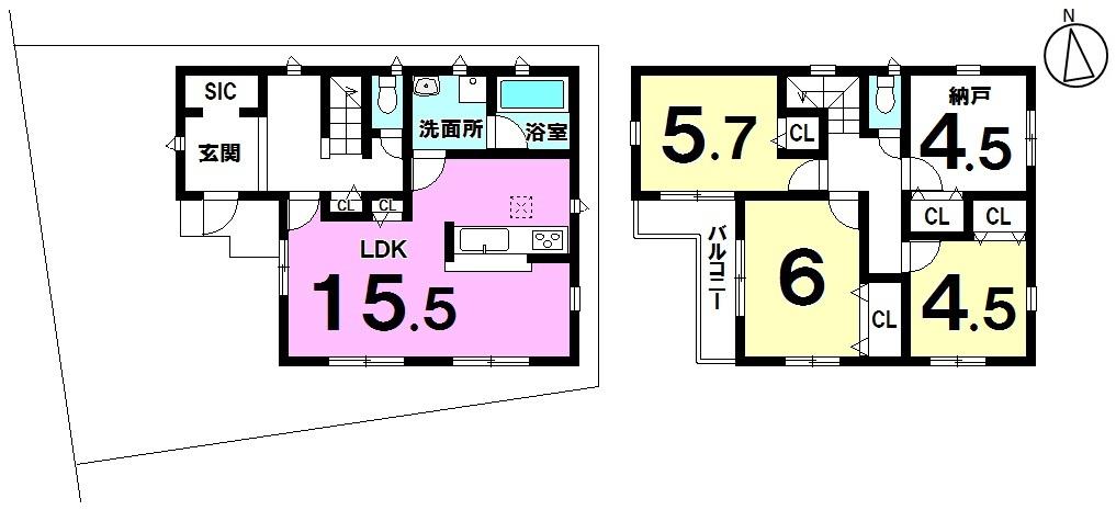 2階納戸は居室にも使えます♪玄関にはシューズインクローク付きでアウトドアグッズやベビーカーの収納に便利です。