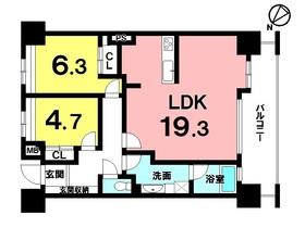 【間取り】 モノレール壺川駅徒歩9分!10階建て6階部分!現在賃貸中!年間収入約144万円あり!!