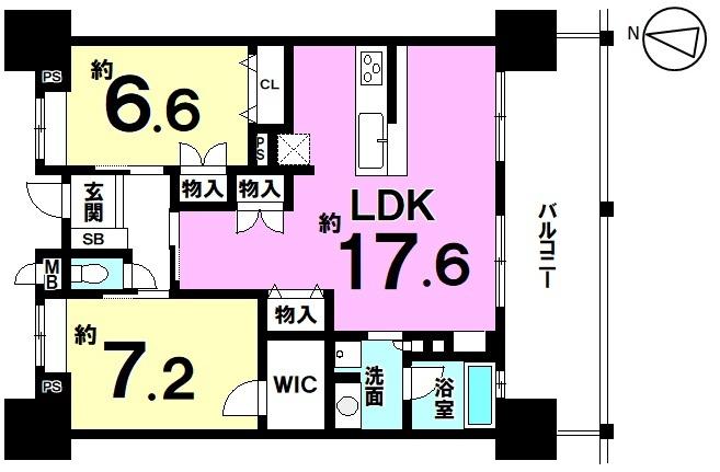 【間取り】 新築タワーマンション19階建最上階!オーシャンビュー・即内覧可能!駐車場空有・ペット飼育可・WIC!
