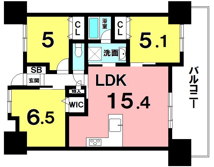 【間取り】 2014年築!名嘉地ICまで車で約2分!L字型対面キッチン!WIC有の3LDK!駐車場空き有!!