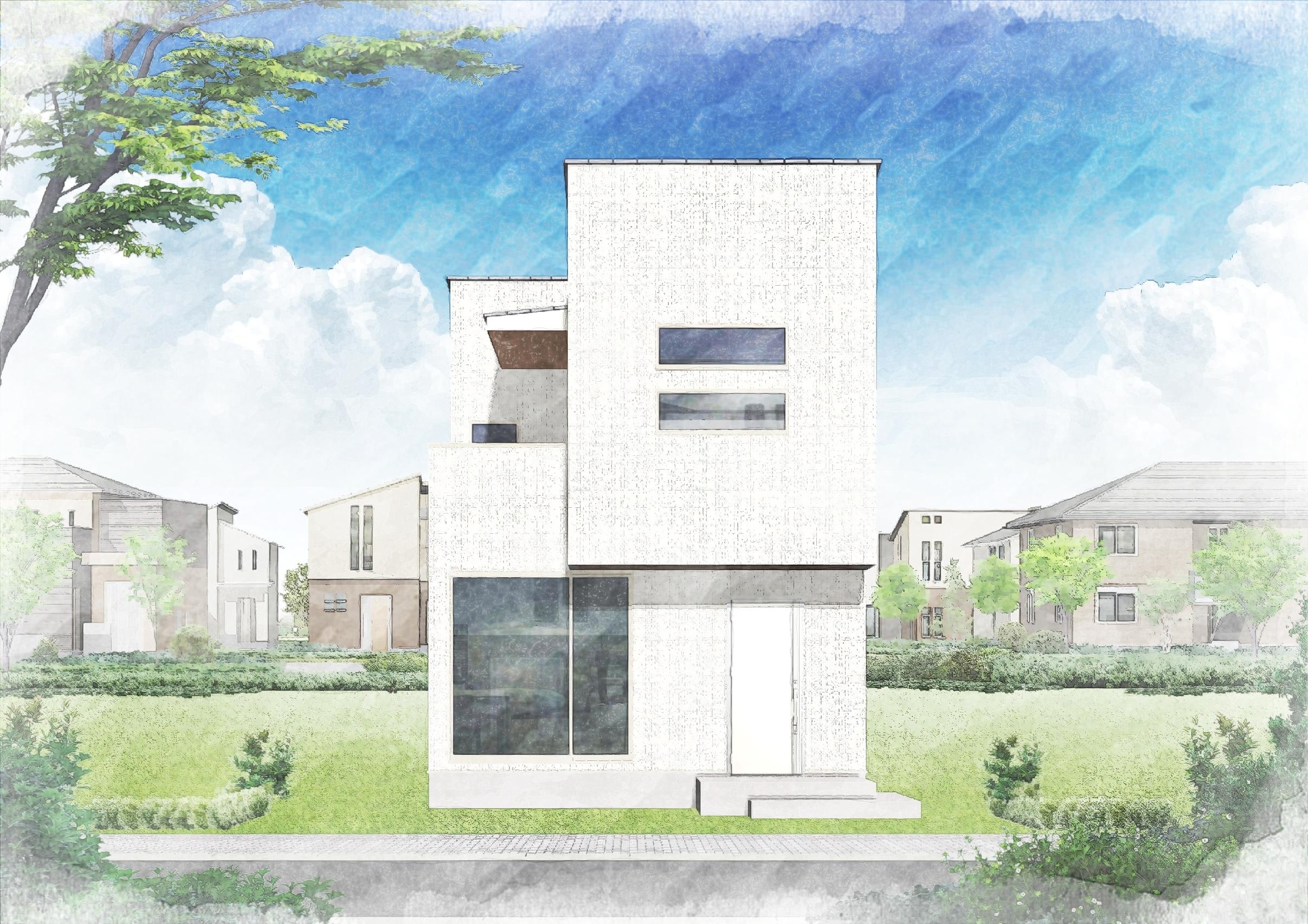 全3区画・LDK+和室の続き間で広々約20帖・吹抜けのある開放的なリビング・家事動線重視のプラン