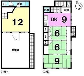 【間取り】 モノレール美栄橋駅まで徒歩8分!!商業地域・容積率400%・駐車場2台可能!国道沿いの街区に立地!
