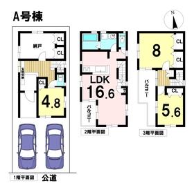 メルディアガーデン名古屋市港区港栄3丁目 全2棟 A号棟 新築一戸建て