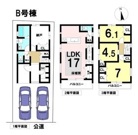 メルディアガーデン名古屋市港区港栄3丁目 全2棟 B号棟 新築一戸建て