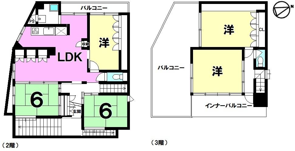 【間取り】 3階RCB構造!5LDK中古戸建!ルーフバルコニー!普通車6台駐車可能!ご家族でいかがですか?