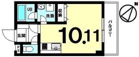 【間取り】 2016年築!単身向き、低層マンション!月額48,000円で賃貸中!修繕費月1,500円!駐車場空有