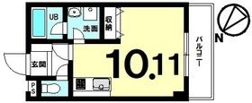【間取り】 築4年の単身向き、低層マンション!月額50,000円で賃貸中の約10帖1R・修繕費が月1,500円!