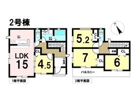 グラファーレ 名古屋市中川区一色新町3丁目 全2棟 2号棟 新築一戸建て