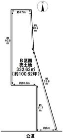 あま市木田西浦 B区画 建築条件なし土地