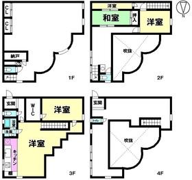【間取り】 【オーナーチェンジ物件】鉄骨4階建て5K+納戸 住居付店舗