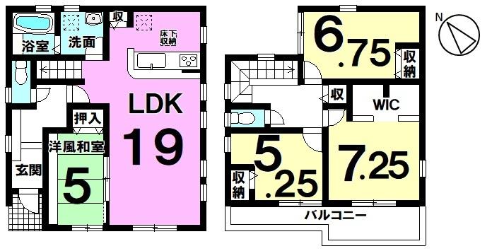 【4LDK】LDK19帖+和室5帖 扉を開け放てば広々空間♪ 家族が繋がるリビング階段の住まい