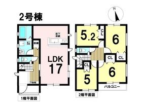 グラファーレ 名古屋市中川区荒子2丁目 全2棟 2号棟 新築一戸建て
