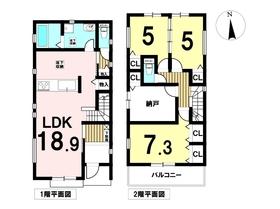 名古屋市中川区供米田1丁目 全1棟 新築一戸建て