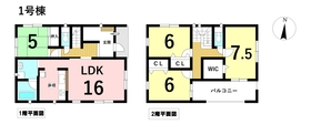 クレイドルガーデン名古屋市港区正徳町4丁目 全2棟 1号棟 新築一戸建て