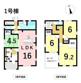 リーブルガーデン 富田町大字千音寺字西屋敷 全3棟 1号棟 新築一戸建て