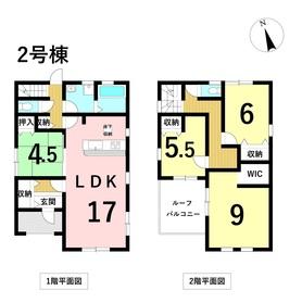リーブルガーデン 富田町大字千音寺字西屋敷 全3棟 2号棟 新築一戸建て