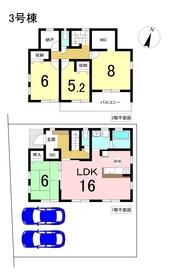 リーブルガーデン名古屋市港区船頭場3丁目 全3棟 3号棟 新築一戸建て