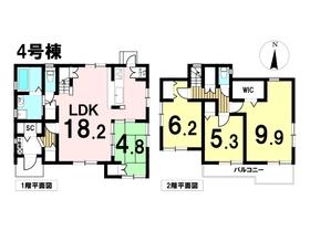 あま市新居屋東高田 全6棟 4号棟 新築一戸建て