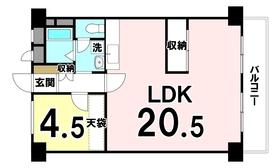 【間取り】 専有面積:56.72㎡ 1LDKの中古マンションです!